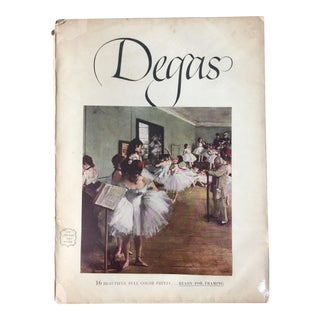 1950s Vintage Degas Lithographic Print Portfolio For Sale
