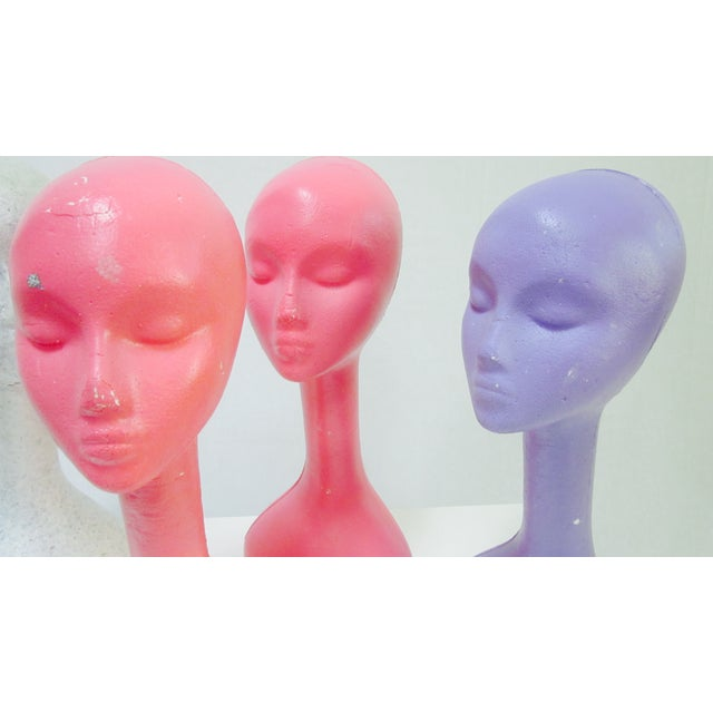 Long Neck Mannequin Heads- Set of 4 - Image 4 of 8