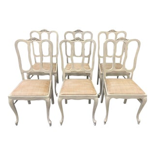 French Country Painted Dining Chairs - Set of 6