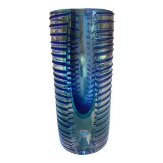 1980s Vintage Postmodern Glass Vase and Candle Holder For Sale