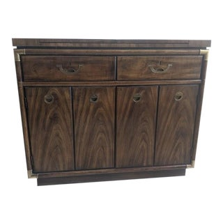 1960s Campaign Drexel Server Dry Bar For Sale