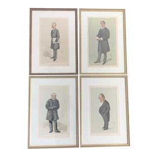 Antique Vintage Vanity Fair Men of the Day Framed Prints - Set of 4 For Sale