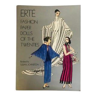 1978 Erte Fashion Paper Dolls of the Twenties First Edition Art Book For Sale