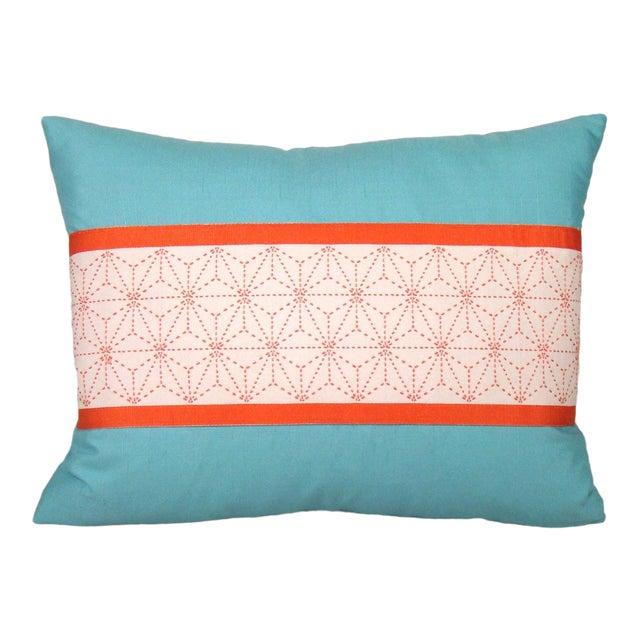Japanese Sashiko Obi Pillow Cover For Sale