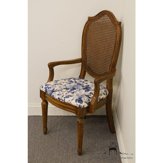 Thomasville Thomasville Furniture Tapestry Collection Cane Back Dining Arm Chair For Sale - Image 4 of 13
