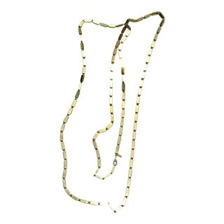 Monet Long Chain Necklace For Sale