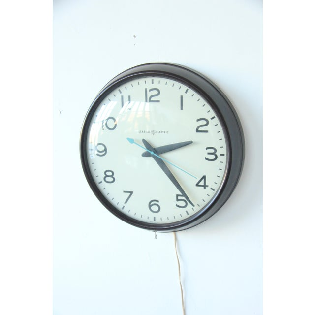 Large Vintage Mid-Century Industrial School House Clock - Image 3 of 5