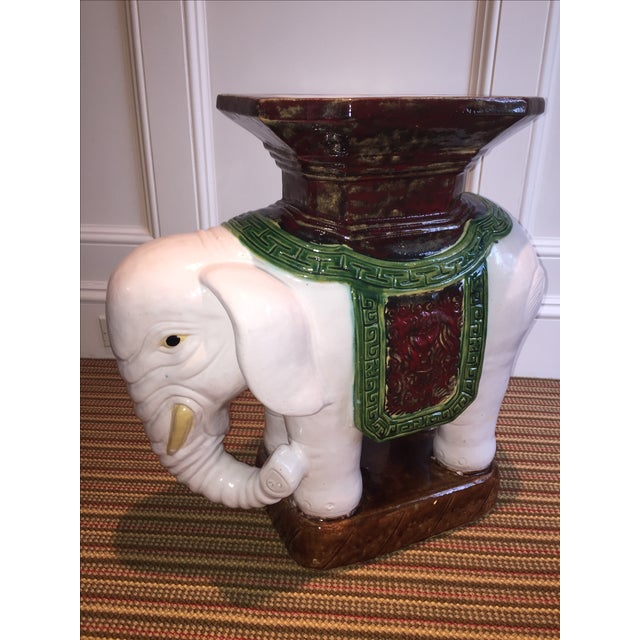Green and Brown Elephant Garden Stool - Image 2 of 10