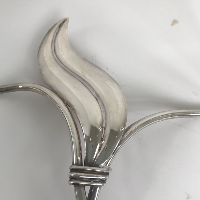 Danish Modern Hans Jensen Danish Silverplate Candleholder For Sale - Image 3 of 6