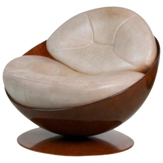 """Esfera"" Swivel Chair by Ricardo Fasanello, Circa 1970 Brazil For Sale"