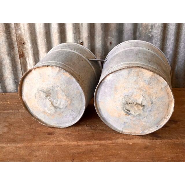 Vintage Galvanized Double Bucket - Image 7 of 11