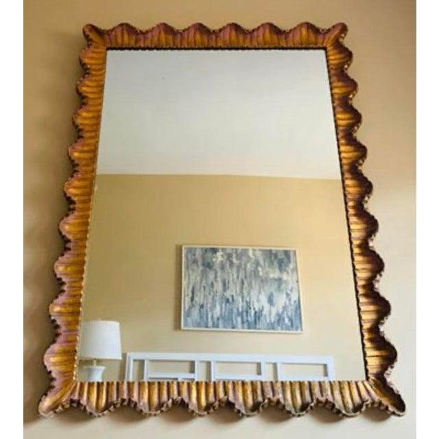 Hollywood Regency Mid-Century Italian Regency Gilt Wood Mirror For Sale - Image 3 of 5
