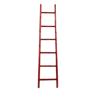 Bamboo Ladder Red For Sale