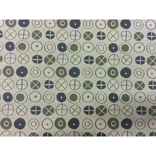 Mid-Century Modern Maharam Circles by Charles & Ray Eames Upholstery Fabric - 3.25 Yards For Sale