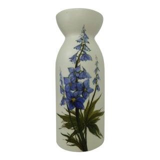 1960s Arabia Modern Ceramic Vase With Bluebells by Hilkka Liisa Ahola For Sale