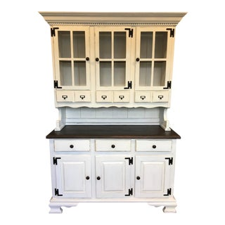1970s Vintage Country Style China Cabinet For Sale