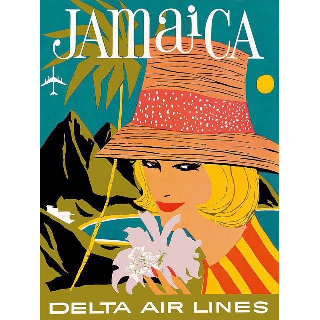 Vintage Reproduction Jamaica Travel Poster - Image 3 of 3
