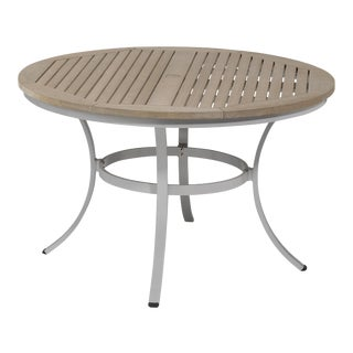 """48"""" Round Outdoor Dining Table, Vintage For Sale"""