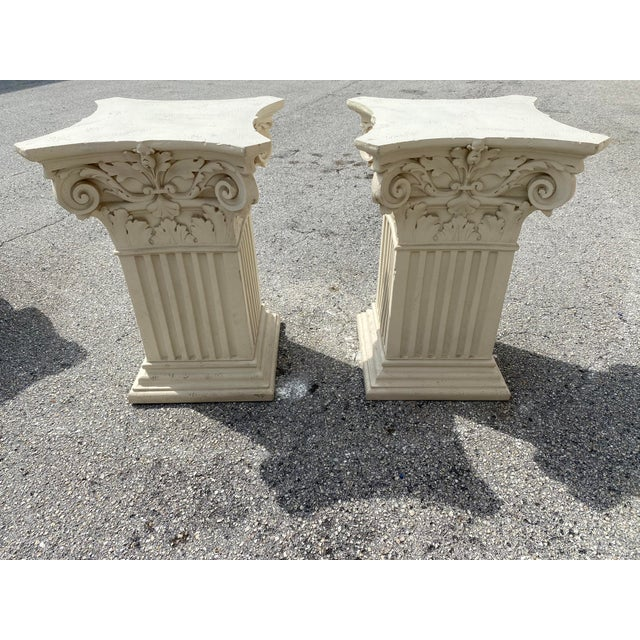 Mediterranean 1980s Corinthian Acanthus Roman Dining Table Greek Table Base - 2 Pieces For Sale - Image 3 of 10