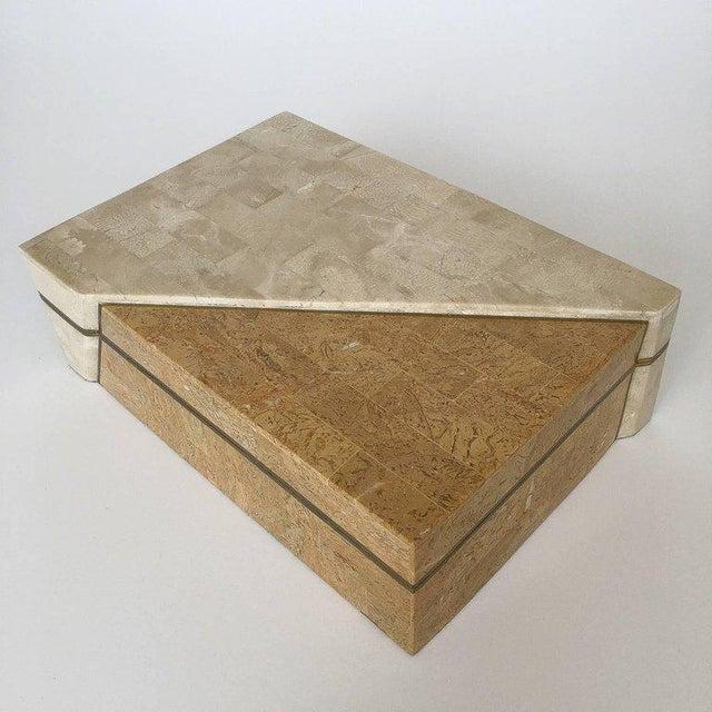 "Designer: Maitland Smith USA - Circa 1970s Dimensions: 4"" H x 13"" W x 9"" D Condition: Excellent vintage condition. A large..."