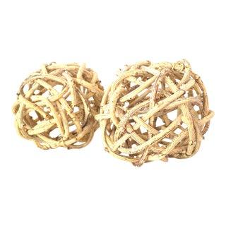 Natural Windsor Knot Balls - A Pair