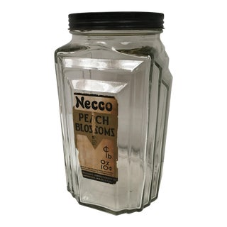 Vintage Art Deco Necco Candy Jar For Sale