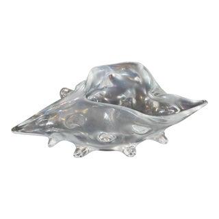 Lizio Zanetti Opalescent Glass Shell Murano, Italy