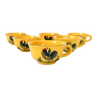 Horchow Rooster Coffee Cups For Sale