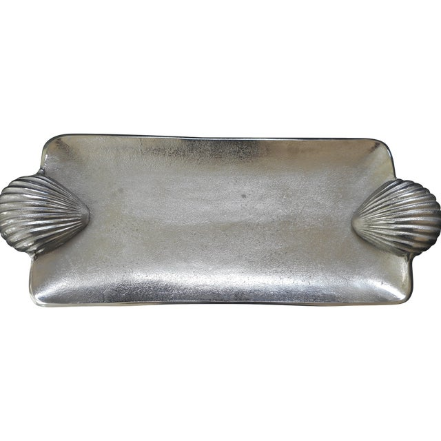 Silver Metal Shell Tray - Image 1 of 4