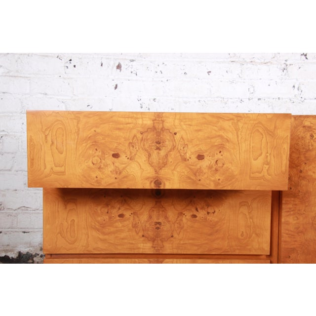 Brown Burl Wood Credenza by Lane Furniture For Sale - Image 8 of 13