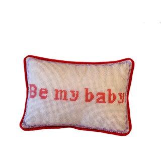 Be My Baby Love Toss Pillow, OriginalTextile Art For Sale