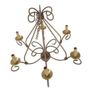 Chandelier With 6 Electric Candle Holders For Sale