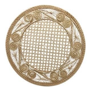Handwoven Cream Iraca Fibre Placemat's' Made in Columbia For Sale