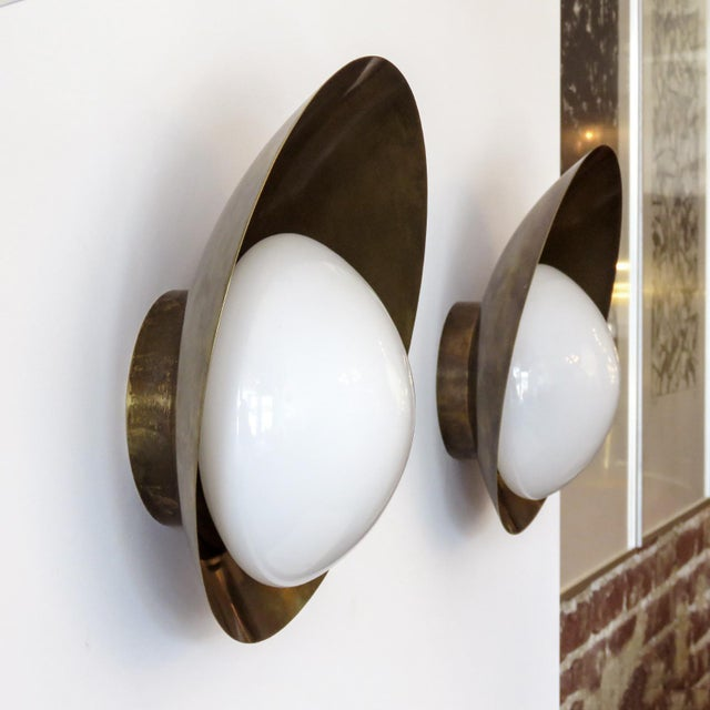 """Not Yet Made - Made To Order Custom """"Concha"""" Wall Lights For Sale - Image 5 of 11"""