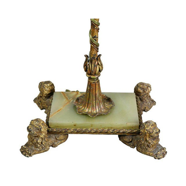Renaissance Revival Wrought Iron and Bronze Floor Lamp For Sale In Boston - Image 6 of 11