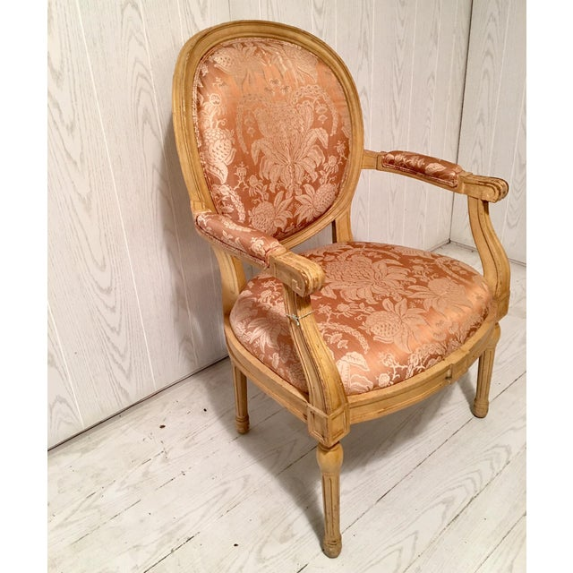 French Louis XVI Style Fauteuils Chair For Sale - Image 4 of 6