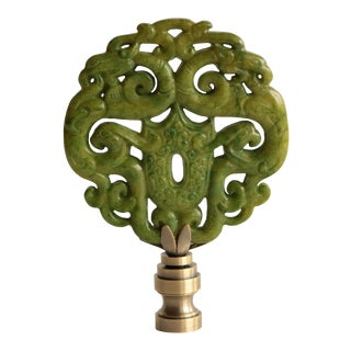 Asian Scroll Lamp Finial For Sale