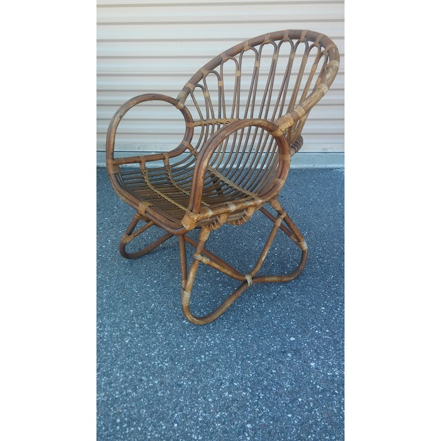 Rattan Vintage Franco Albini Rattan Loveseat and Chair - a Pair For Sale - Image 7 of 13