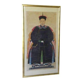 Chinese Ancestral Painting, 19th Century For Sale