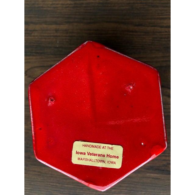 Vintage Red Ceramic Canister - Image 5 of 8