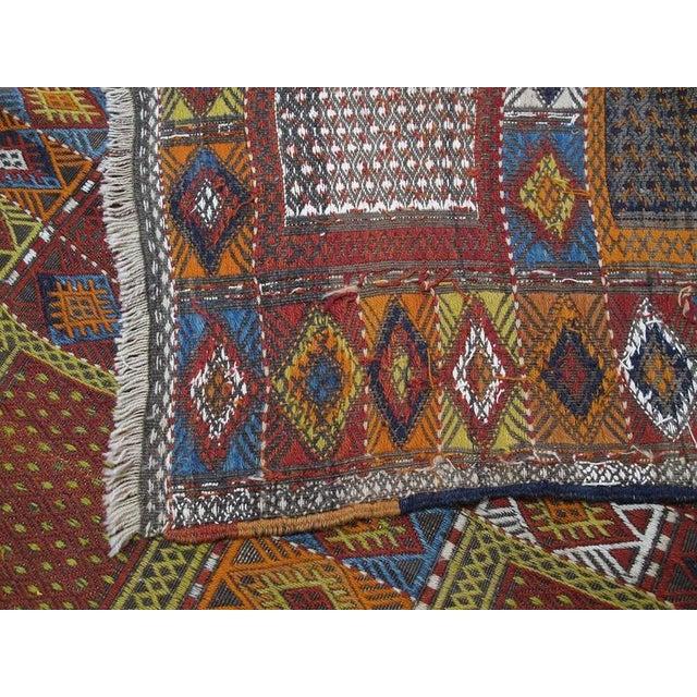 "Blue Southeast Anatolian ""Jijim,"" Long Rug For Sale - Image 8 of 9"