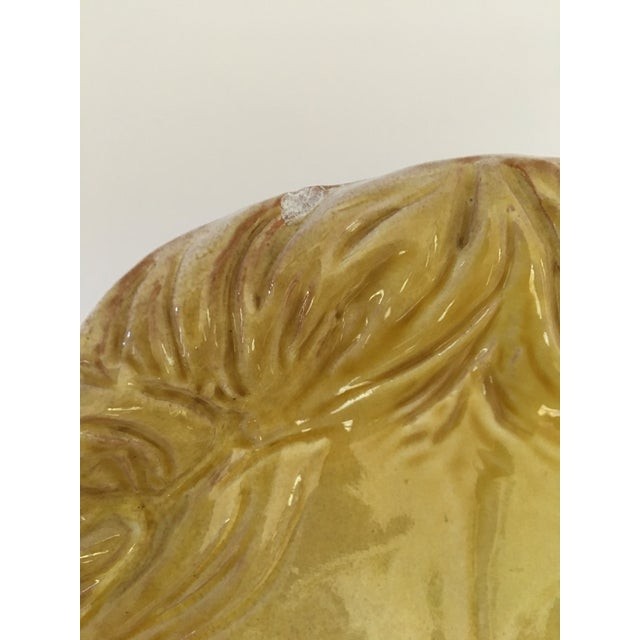 Larger- Italian Mid-Century Modern Golden Lion Bowl For Sale - Image 10 of 13