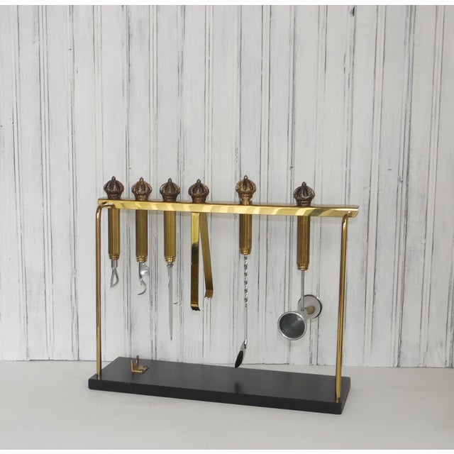 This solid set of brass bar tools is decorated with crowns on top. Made by Colgate-Palmolive, this set is very heavy with...