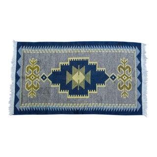 Handmade Vintage Kilim Rug - 4′4″ × 2′6″ For Sale