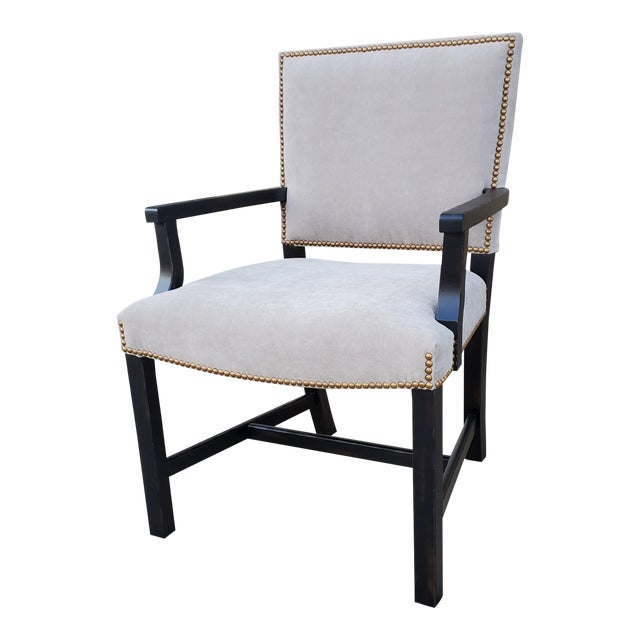 Henredon Furniture Mark D. Sikes Sheffield Upholstered Arm Chair For Sale