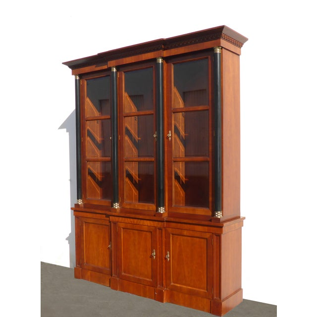 Vintage Baker Furniture Federal Style Solid Wood China Hutch Cabinet For Sale - Image 11 of 11