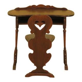 Kittinger Vintage Walnut Telephone Table & Stool
