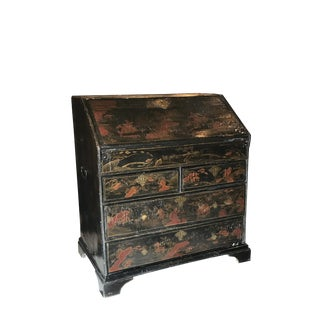 English Chinoiserie Fall Front Desk