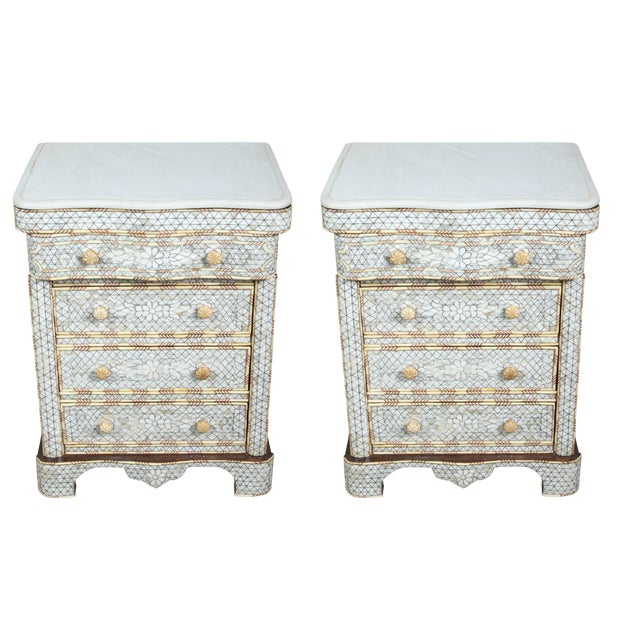 Pair of Mother-Of-Pearl Inlay Syrian Nightstands For Sale - Image 11 of 11