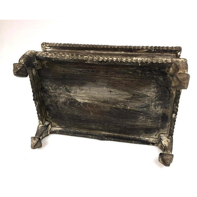 1900s Asian Hand Carved Wood Spice Box For Sale - Image 10 of 11